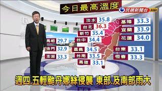 2019/7/16 輕颱丹娜絲侵襲 東、南部雨勢大-民視新聞