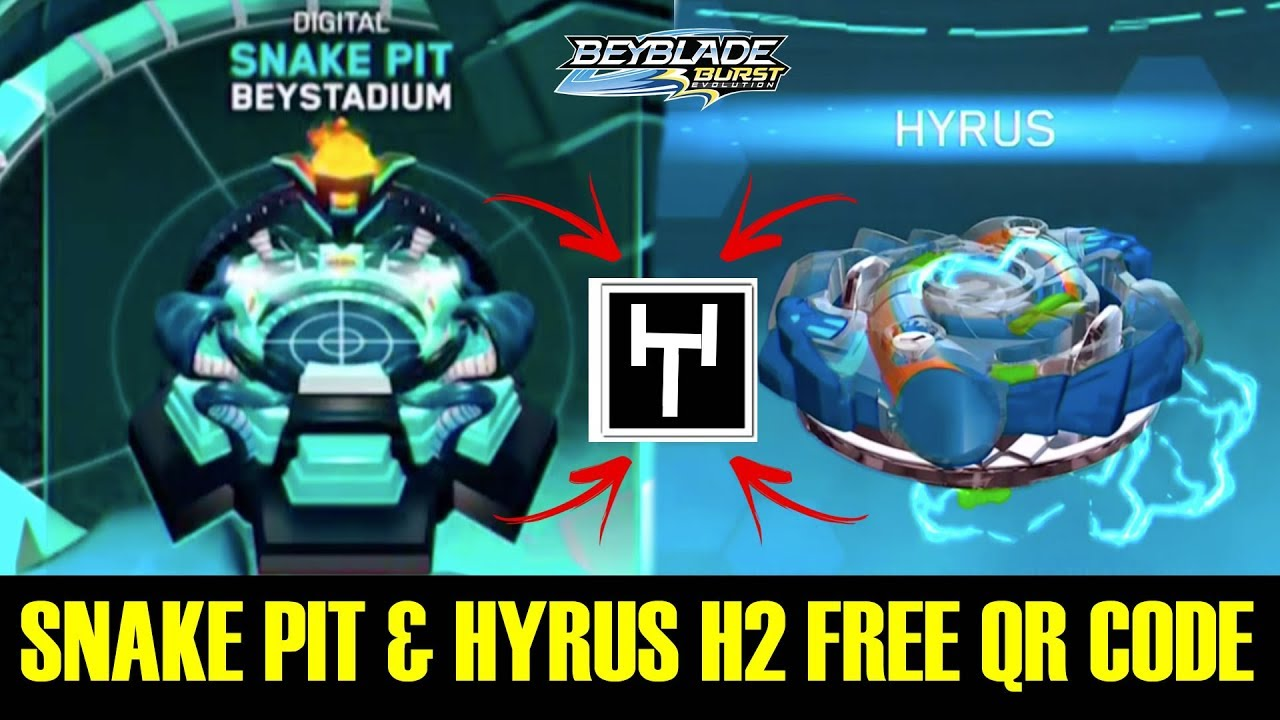 SNAKE PIT & HYRUS H2 FREE QR CODE CYPRUS COLLAB! BEYBLADE BURST EVOLUTION APP #1
