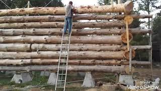 Stacking one log, start to finish, LHBA method