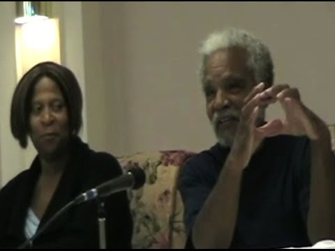 Vicki Clark & Ernie Chambers at Nebraskans for Justice Forum