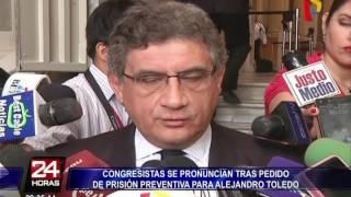 Reacciones tras pedido de prisión preventiva contra Alejandro Toledo