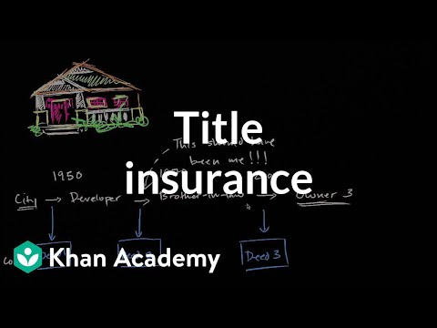 Titles insurance | Housing | Finance & Capital Markets | Khan Academy