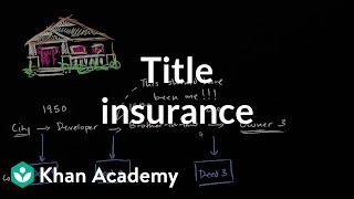 Titles insuranceHousingFinance & Capital MarketsKhan Academy