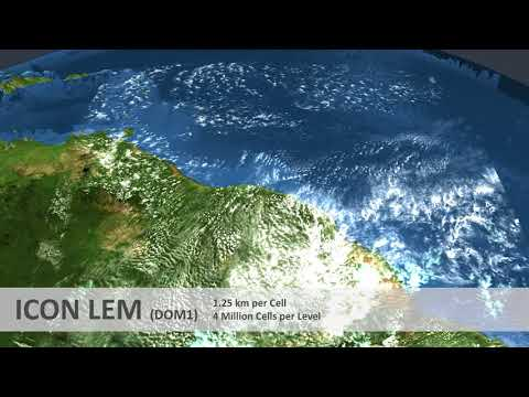 Global Storm-Resolving and Large-Domain Large-Eddy Simulations with ICON LEM