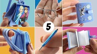 5 Materiais Escolares fáceis de fazer para Boneca Barbie - DIY Miniatura thumbnail