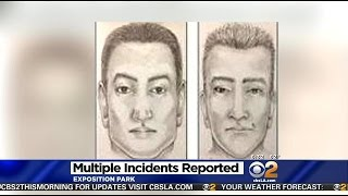 police search for sexual battery suspect wanted for groping women near usc