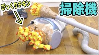 大量のびっくりチキンを掃除機に付けたらうるさすぎた!!