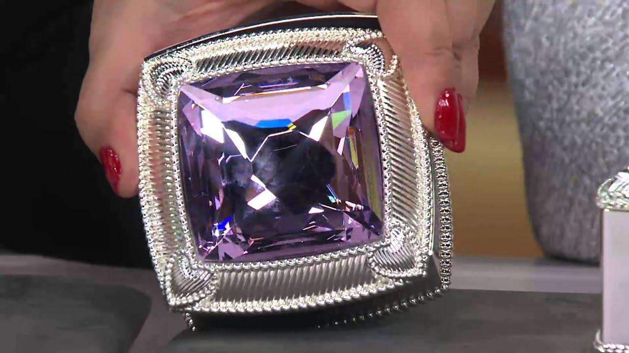 Judith Ripka Textured AntiTarnish Jewelry Box with Antonella Nester