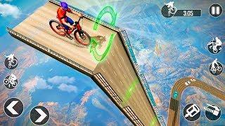 BMX Racing Mega Ramp Stunts - BMX Bike Stunt games - Gameplay Android game
