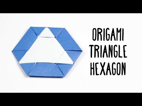 Origami Triangle Hexagon Coaster/Tato Tutorial ♥︎ Paper Kawaii