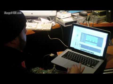 DJ Green Lantern in the studio