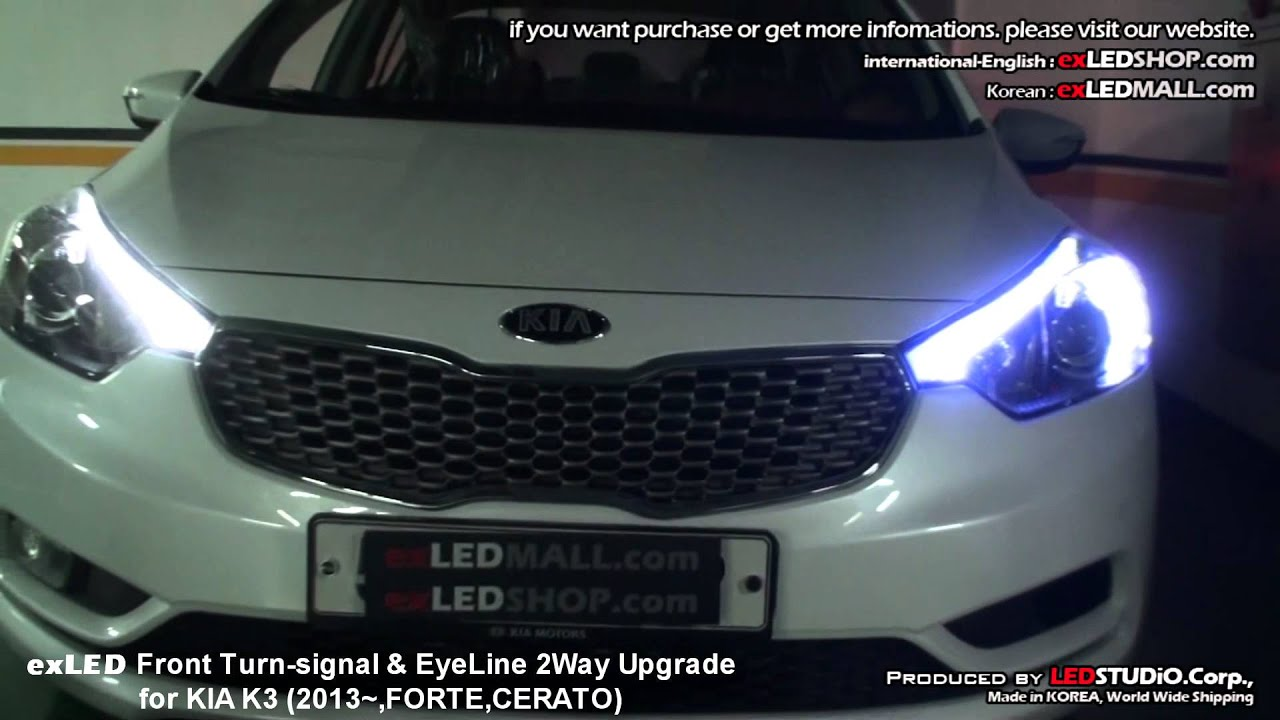 exLED Front TurnSignal & EyeLine 2Way Upgrade LED Module for KIA K3 (2013~,FORTE,CERATO)  YouTube