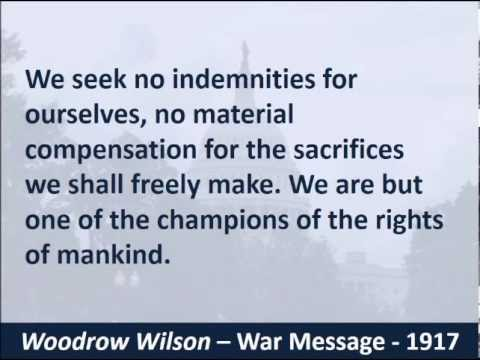President Woodrow Wilson's War Speech - 1917 - WW1 - Hear th