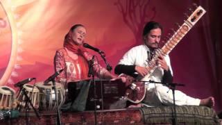 Jai-Jagdeesh performs Mayray Govindaa at Sat Nam Fest West in Joshua Tree, CA