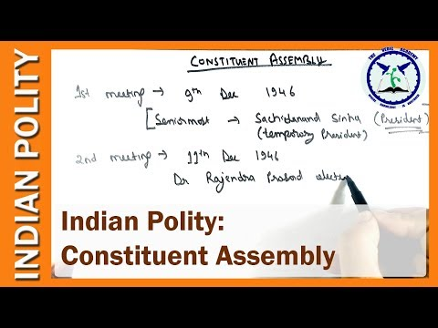 Constituent Assembly of India in Hindi | Indian Polity | SSC CGL  by TVA