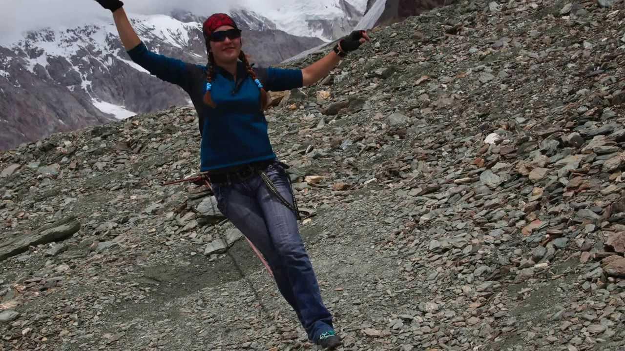 Отдых в Киргизии / Горы/ Как умеют ходить по ленте?
