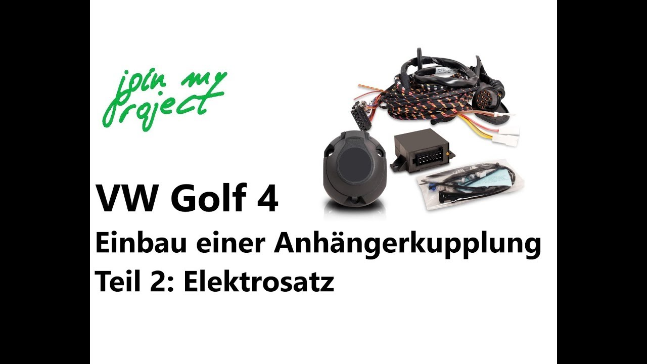 anh ngerkupplung am golf 4 nachr sten teil 2 einbau des. Black Bedroom Furniture Sets. Home Design Ideas