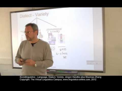 SOC101 - Language, Dialect, Variety
