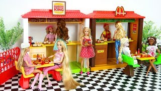 Barbie Burger King Playset Doll Hamburger shop Toy Boneka Barbie Mainan Boneca Barbie Brinquedo