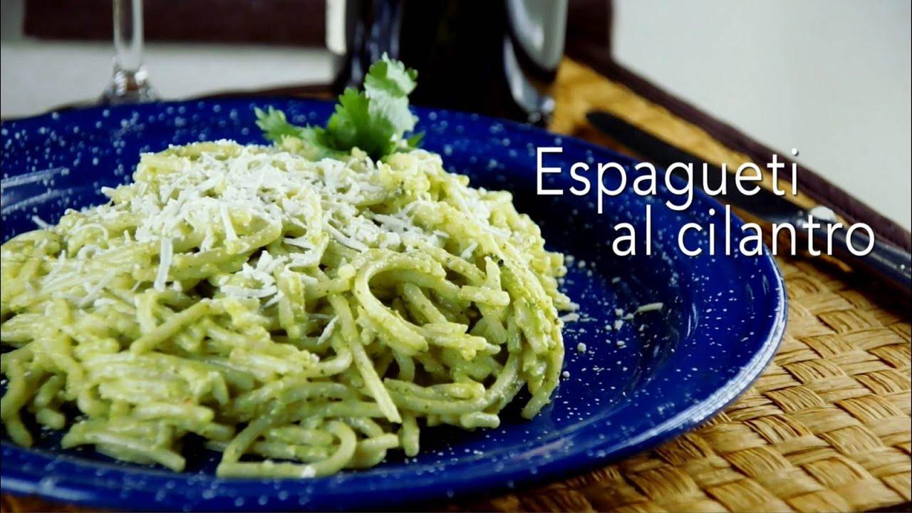 Prepara un rico y f cil espagueti al cilantro te va a for Cocina con alegria