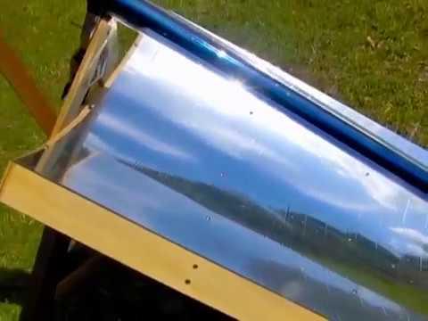 Evacuated Solar Tube Parabolic Trough Mirror Kit Boil