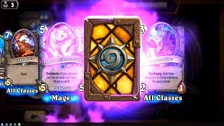 Book of Specters and Bonfire Elemental and Murkspark Eel - The Witchwood Hearthstone epic and rare
