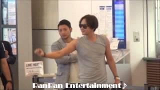 チャン・グンソク羽田空港来日映像。2014年7月17日.