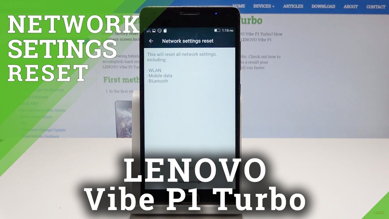 How to Reset Network Settings in LENOVO Vibe P1 Turbo - Reset Wi-Fi &  Bluetooth