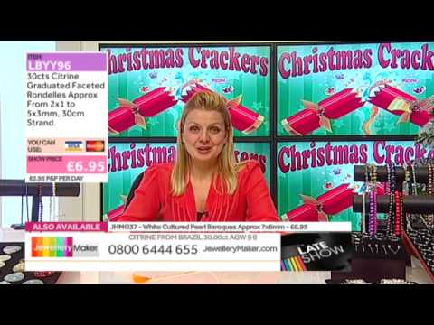 Yellow Topaz on The Late Show (JewelleryMaker) LIVE 12/12/2014