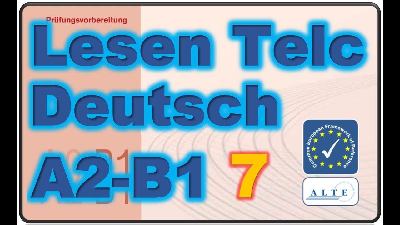 Modelltest7 A2 B1 Lesen Deutsch 11 02 2019 Youtube