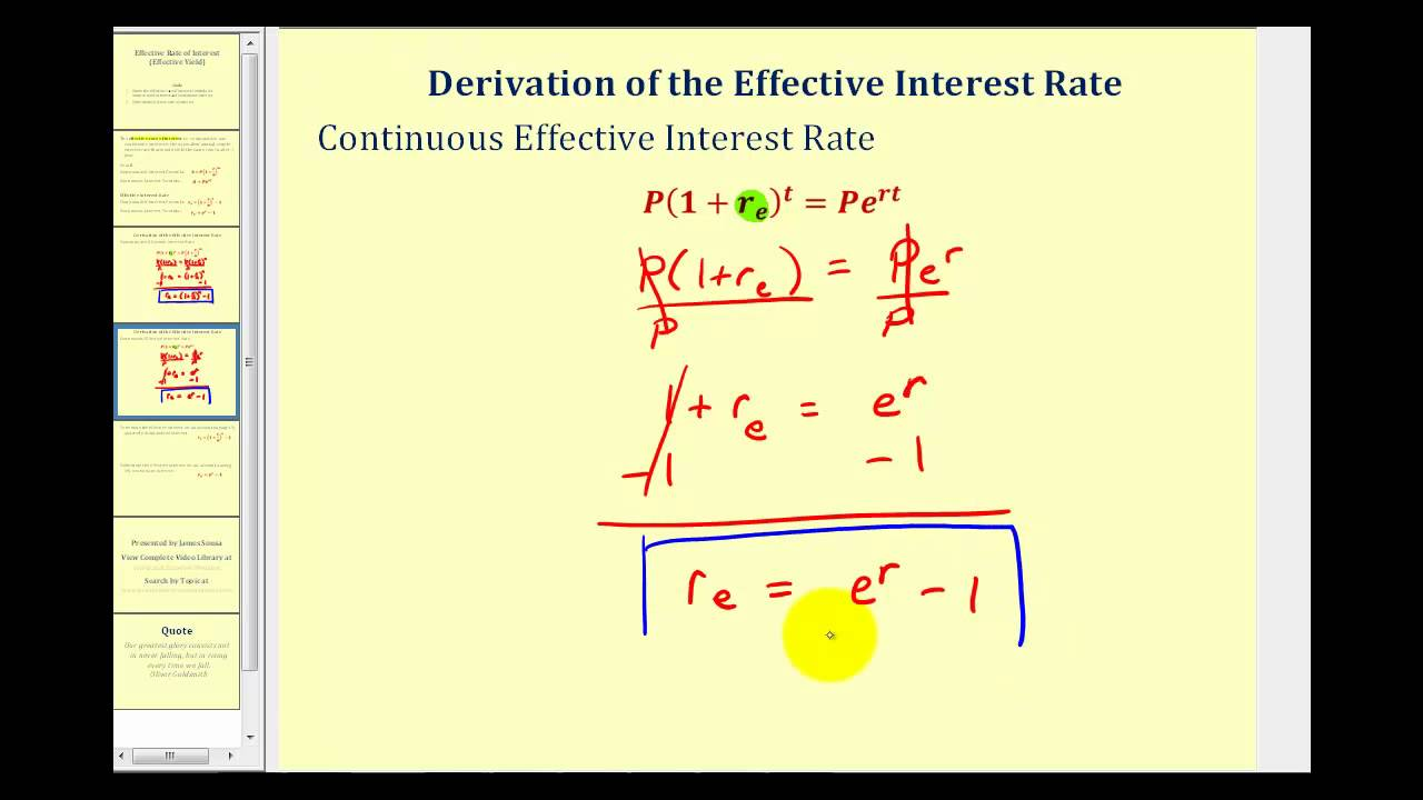 Effective Interest Rate (effective Yield) Youtube