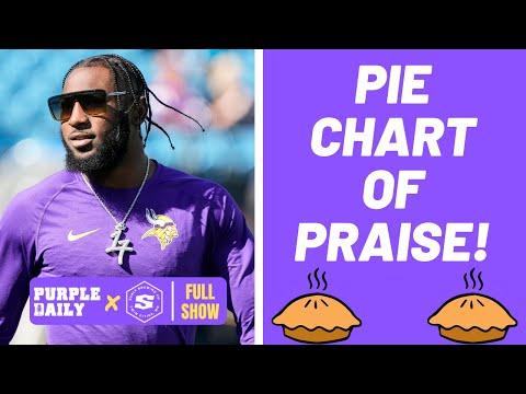 Minnesota Vikings pie chart of praise: Kirk Cousins, KJ Osborn, Christian Darrisaw!