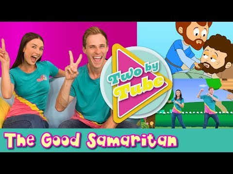 THE GOOD SAMARITAN for children - Kids Bible lessons - Christian Kids Songs - Two By 2 mini episode