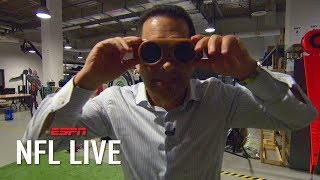 Adam Schefter attempts to catch a pass in 50-year-old receiving goggles | NFL on ESPN