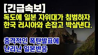 일본 자위대 독도 침공에 연대하는 한국과 러시아