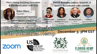 Building Sustainably with Industrial Hemp