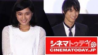 映画『好きっていいなよ。』完成披露試写会が行われ、主演の川口春奈と...