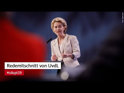 Rede von Ursula von der Leyen beim #cdupt19