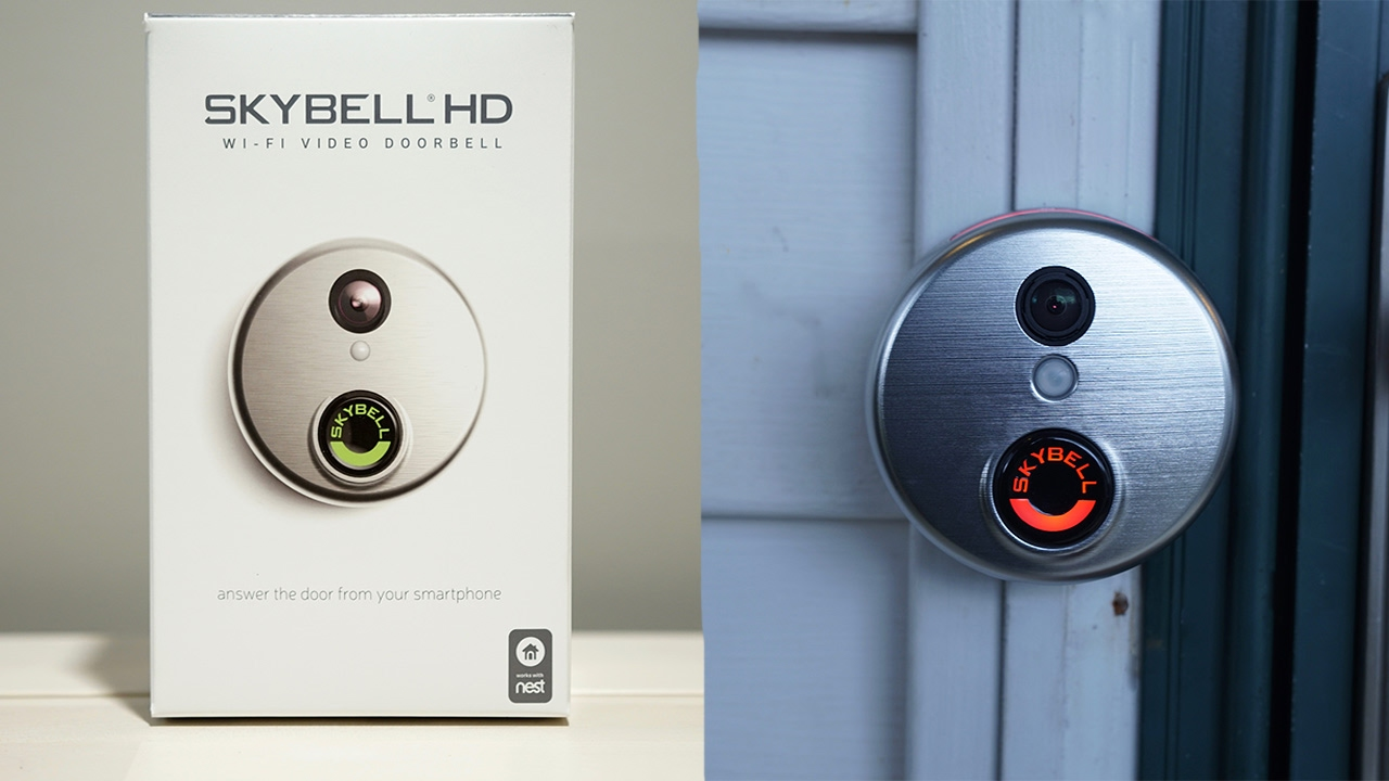 SkyBell HD Wifi Video Doorbell Install - YouTube