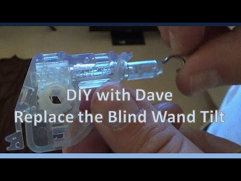 Diy How To Replace Horizontal Window Blind Wand Tilt