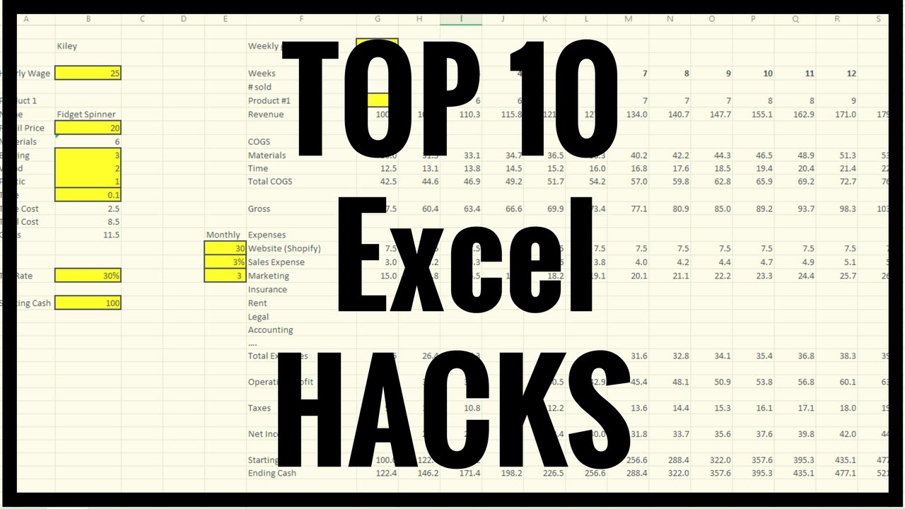 How To   Tutorial   Top 20 Excel Hacks, Tips and Tricks