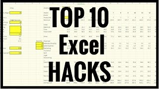 How To - Tutorial - Top 10 Excel Hacks, Tips and Tricks