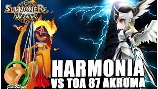 SUMMONERS WAR : TOA Hard 87 Harmonia Test VS Akroma (Light Valkyrja) YouTube Videos