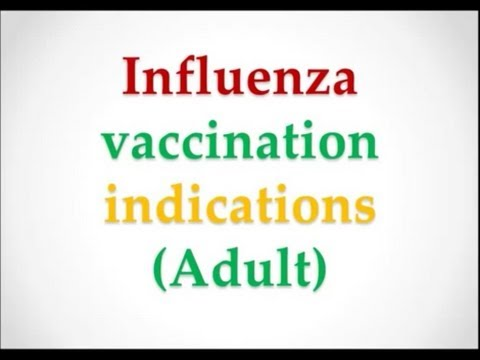 USMLE: What you need to know about Influenza vaccination indications (adult) by UsmleTeam