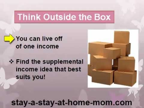 Supplemental Income Ideas For Stay At Home Moms Youtube