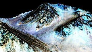 Ученые NASA обнаружили на Марсе потоки жидкой соленой воды