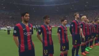 BARCELONA VS REAL MADRID - EL CLÁSICO - UEFA CHAMPIONS LEAGUE - PES 2015 - PS4 GAMEPLAY