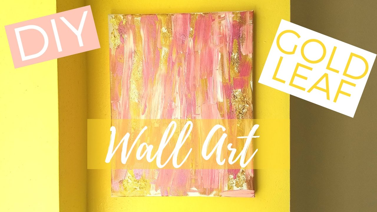 How To Make DIY Gold Leaf Abstract Art - YouTube