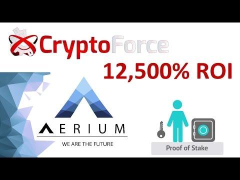 Aerium (AERM) Crypto moneda Proof of Stake ROI 12,500%