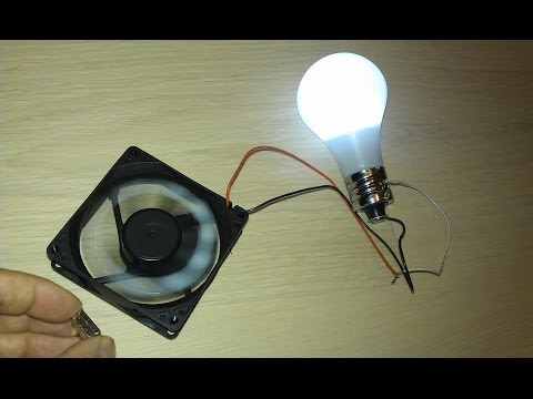"Thumbnail: Free Energy Magnet Motor fan used as Free Energy Generator ""Free Energy"" light bulb!"